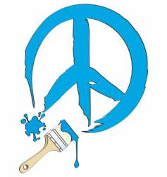 peace painting vector image vector image