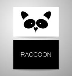 raccoon animal template vector image