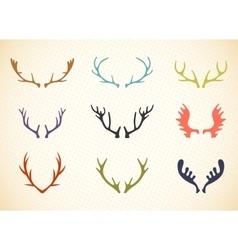 Reindeer Antlers in vector image vector image