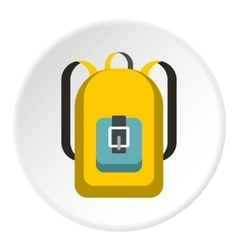 School backpack icon flat style vector