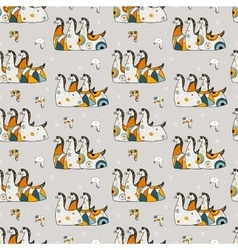 Seamless pattern three horses on a gray background vector image vector image