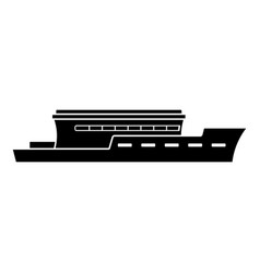 ship river icon simple black style vector image