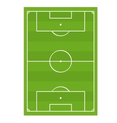Soccer football game field top view vector