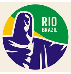 Travel sticker brazil vector