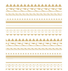 Seamless pattern in the style of the tribe vector