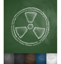 Symbol of toxicity icon vector