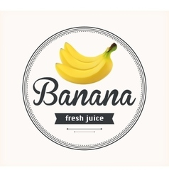 Banana juice detailed label vector