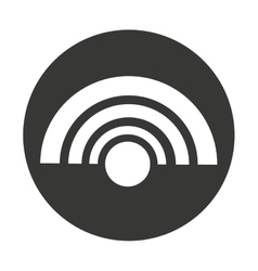 Wifi waves isolated icon vector