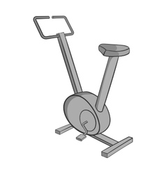 Exercise bike icon black monochrome style vector