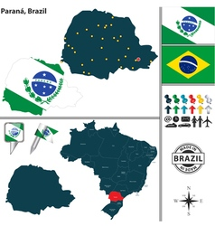 Map of Parana vector image