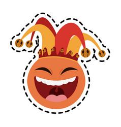 Clown cartoon icon image vector