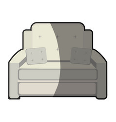 armchair cushions furniture home image vector image