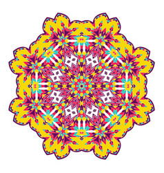 Mandala ethnicity round ornament vector