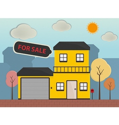 Real estate and property for sale vector