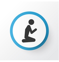 Prayer icon symbol premium quality isolated man vector