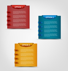 Modern options labels progress background vector