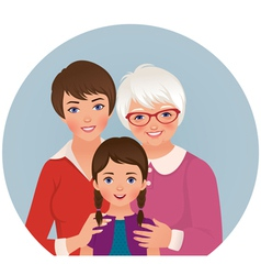 Grandmother mother and daughter vector