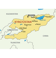 Kyrgyz republic - kyrgyzstan - map vector