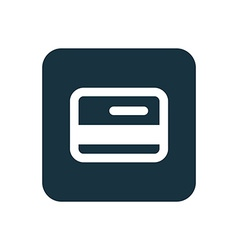 Credit card icon rounded squares button vector