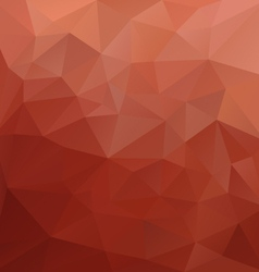 Brick red polygonal triangular pattern background vector