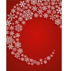 christmas red background with snowflakes pattern vector image