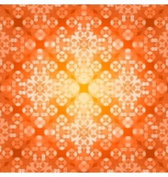 Square flower pattern symmetrical vector