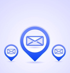 blue mail symbols vector image