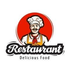 Restaurant logo diner cafe or cook chef vector