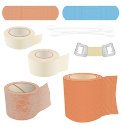 First aid kit - bandages vector