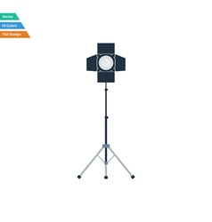 Flat design icon of curtain light vector