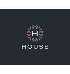Premium monogram letter H initials logo Universal vector image