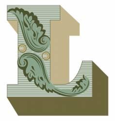 western letter l vector image