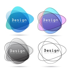 Abstract logo design element vector image vector image