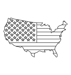 American map icon outline style vector