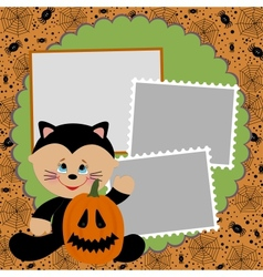 Blank template for Halloween photo frame or vector image vector image
