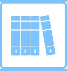 Books volumes icon vector