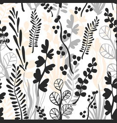botanical grass seamless pattern vector image