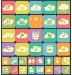 Cloud Storage Data analysis database network vector image vector image