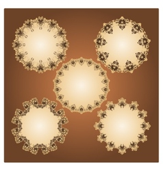 Collection of sample frames vector