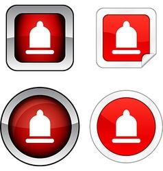 Condom button set vector