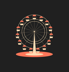 ferris wheel attraction from the amusement park vector image
