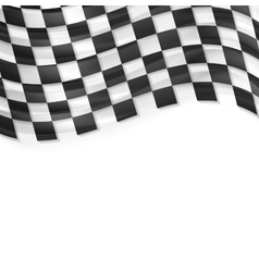 Finish wavy flag design Black and white squares vector image vector image