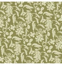floral vine pattern vector image vector image