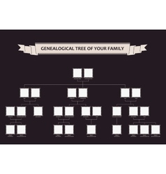 Genealogical tree of your family calligraphic vector