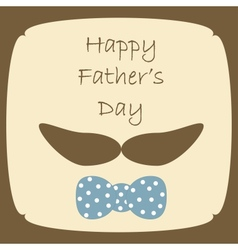 Happy Fathers Day card vector image