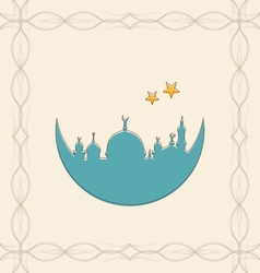 Islamic card for ramadan kareem vector