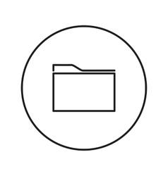 line folder Icon vector image vector image