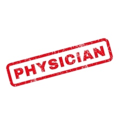 Physician rubber stamp vector