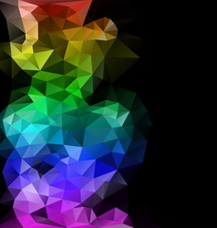 polygonal abstract composition vector image vector image