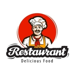Restaurant logo diner cafe or cook chef vector